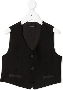tailored single-breasted waistcoat - Black