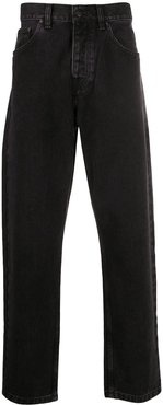 high-rise loose fit jeans - Black