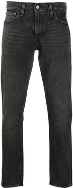 mid-rise slim fit jeans - Black