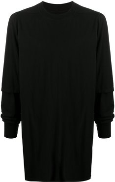 long fitted jumper - Black