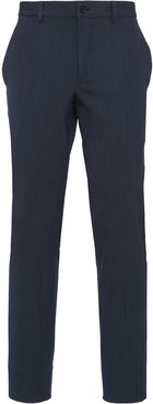tailored cut wool trousers - Blue