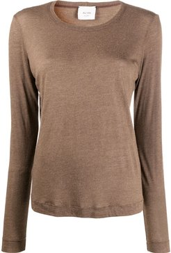 loose fit knitted top - Brown