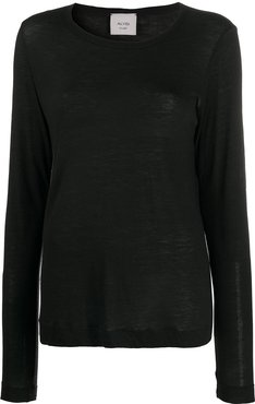 loose fit knitted top - Black