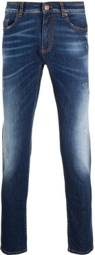 mid wash slim-fit jeans - Blue