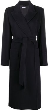 Wire belted wrap coat - Blue