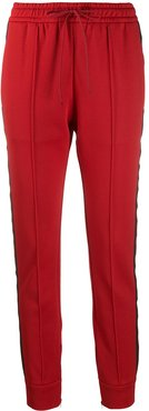 slim-fit drawstring track pants - Red