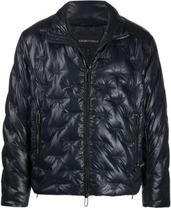 quilted down jacket - Blue