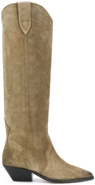 suede knee boots - Neutrals
