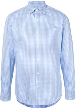 checked button-up shirt - Blue