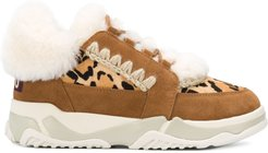 Basket Fourre shearling sneakers - Brown
