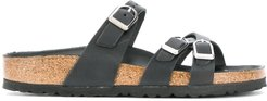 strappy buckle sandals - Black