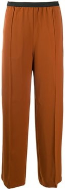 wide-leg trousers - Brown