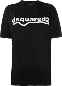 logo-print T-shirt - Black