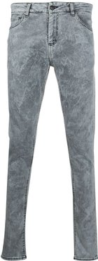bleached slim-fit jeans - White