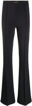 flared style trousers - Black