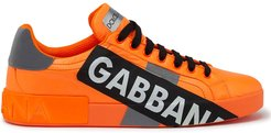 logo tape Portofino sneakers - ORANGE