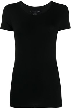 fitted crew-neck T-shirt - Black