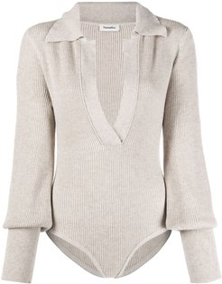Azha knitted bodysuit - Neutrals