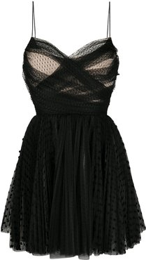 pleated tulle dress - Black
