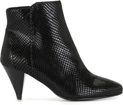 snakeskin-effect ankle boots - Black