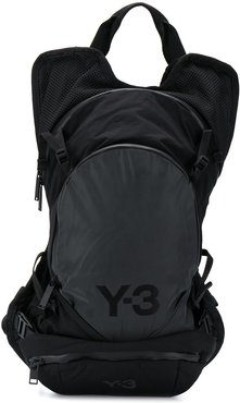 multi-compartment back pack - Black