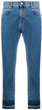 raw-edge slim-fit jeans - Blue