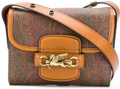 mini paisley cross-body bag - Brown