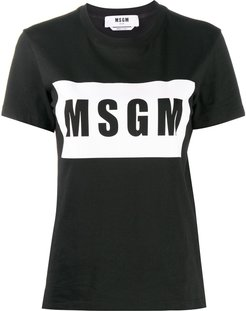 logo print T-shirt - Black