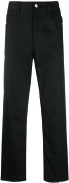 loose-fit straight-leg jeans - Black