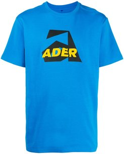 Aspect embroidered logo T-shirt - Blue