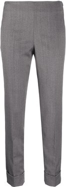 cropped slim-fit trousers - Grey