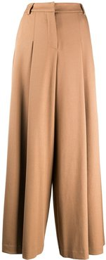 wide-leg tailored trousers - Neutrals