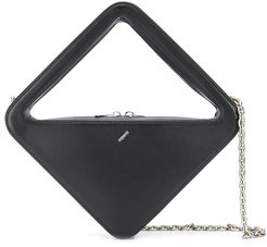 structured tote bag - Black