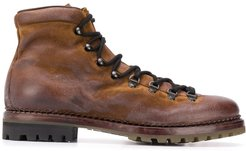 lace-up mountain boots - Brown
