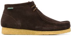 contrasting sole chukka boots - Brown