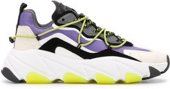 Extra panelled chunky sneakers - PURPLE