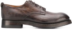 burnished lace-up shoes - Brown