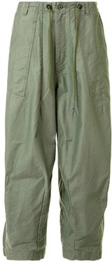 loose fit trousers - Green