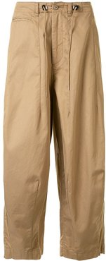 loose fit trousers - BROWN