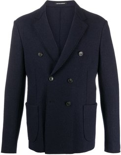 double-breasted tailored blazer - Blue