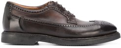 burnished oxford shoes - Brown