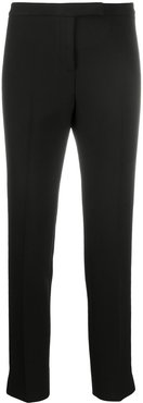 mid-rise cropped trousers - Black