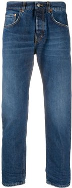 lightly cropped slim jeans - Blue