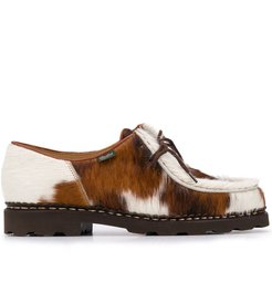 calf hair derby-style shoes - Brown