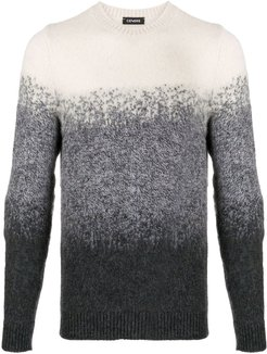 crew-neck ombré sweater - Grey