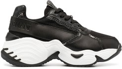 chunky sole low-top sneakers - Black
