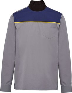 rear-buttoned panelled shirt - Grey