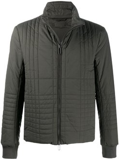 check quilted jacket - Green