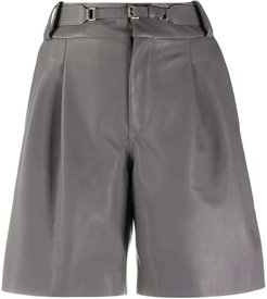 belted tailored shorts - Grey