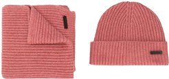 scarf and beanie hat set - PINK